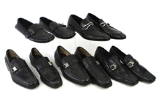 1990s-2000s William Shatner Worn Leather Loafer & Dress Shoes Collection - Lot of 5 Pairs w/ Ferragamo, Ermenegildo Zegna & Prada (Shatner LOA/MEARS LOA)