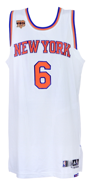 2017 (March 5) Kristaps Porzingis New York Knicks Signed Game Worn Home Jersey (MEARS A10/JSA/Steiner)