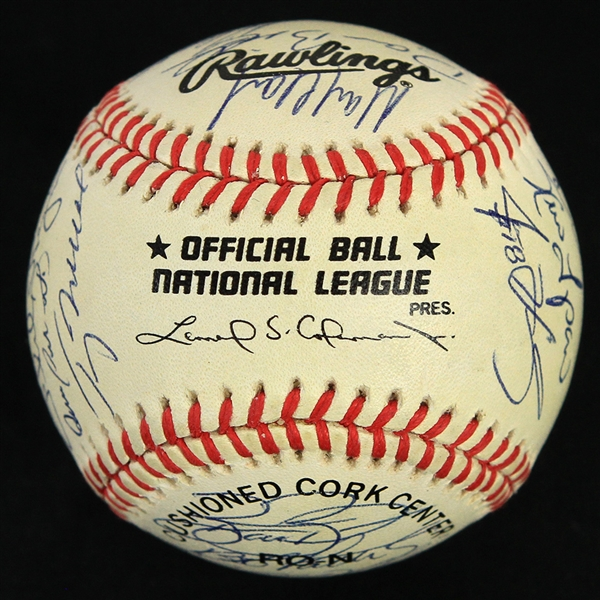 1998 Chicago Cubs Team Signed ONL Coleman Baseball w/ 29 Signatures Including Billy Williams, Sammy Sosa, Kerry Wood & More (JSA)