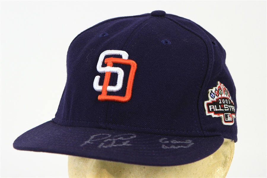 2003 Rondell White San Diego Padres Signed & Inscribed All Star Game Cap (MEARS LOA/JSA)