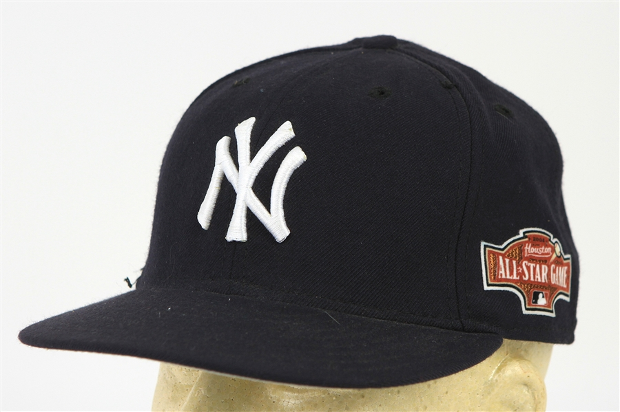 2004 Willie Randolph Joe Torre New York Yankees Dual Signed All Star Game Cap (MEARS LOA/JSA)
