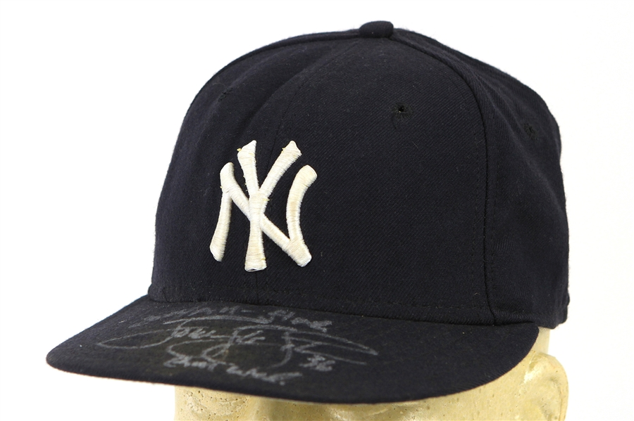 2004 Tom Gordon New York Yankees Signed & Inscribed Game Worn Cap (MEARS LOA/JSA)