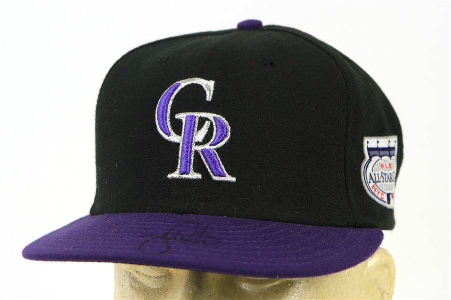 2008 Jamie Quirk Colorado Rockies Signed All Star Game Cap (MEARS LOA/JSA)
