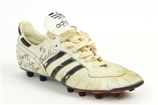 1991-95 Kevin Butler Chicago Bears Signed & Inscribed Adidas Game Worn Cleat (MEARS LOA/JSA)