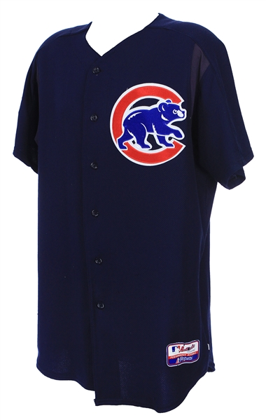 2004-06 Dick Pole Chicago Cubs Batting Practice Jersey (MEARS LOA)