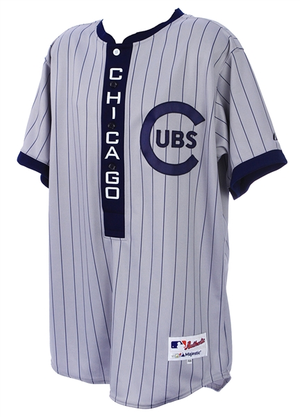 2013 (June 29) Luis Valbuena Chicago Cubs Game Worn 1909 Throwback Road Jersey (MEARS LOA/MLB Hologram)