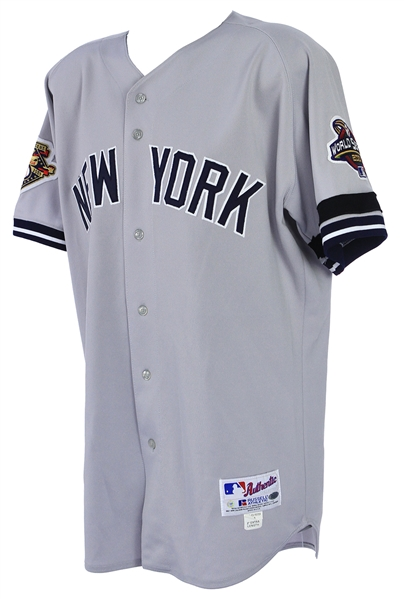 2001 Sterling Hitchcock New York Yankees World Series Road Jersey (MEARS A10/Steiner)