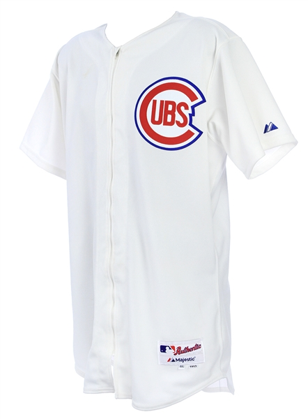 2014 (June 22) Wellington Castillo Chicago Cubs Game Worn 1953 Throwback Home Jersey (MEARS LOA)