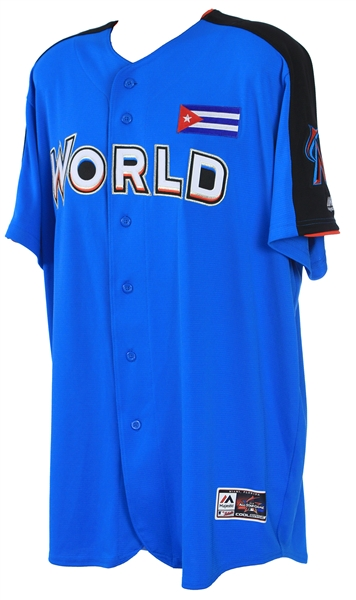 2017 Livan Hernandez Miami Marlins Signed World Team Futures Game Jersey (MEARS LOA/JSA)