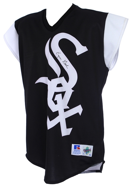 1999 Bryan Little Chicago White Sox Signed Game Worn Turn Ahead The Clock Jersey (MEARS LOA/JSA)