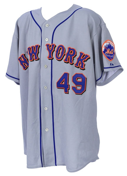 2003 Armando Benitez New York Mets Signed & Inscribed All Star Game Worn Jersey (MEARS LOA/JSA)