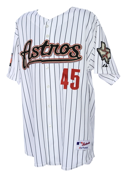 2007 Carlos Lee Houston Astros Signed & Inscribed All Star Game Worn Jersey (MEARS LOA/JSA)