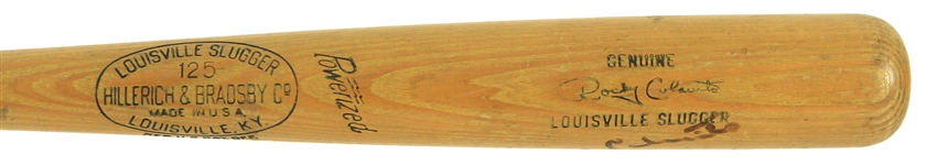 1955-59 Rocky Colavito Cleveland Indians Signed H&B Louisville Slugger Professional Model Game Used Bat (MEARS A7/JSA)