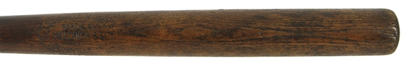 1911-16 Blank Barrel JF Hillerich & Son Co. Louisville Slugger Professional Model Game Used Bat (MEARS LOA)