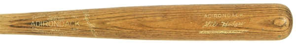 1960 Gil Hodges Los Angeles Dodgers Adirondack Professional Model Game Used Bat (MEARS A8)