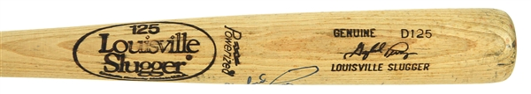 1981 Gaylord Perry Atlanta Braves Signed Louisville Slugger Professional Model Game Used Bat (MEARS LOA/JSA)