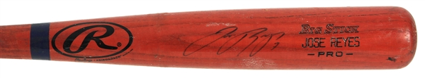 2004 Jose Reyes New York Mets Signed Rawlings Adirondack Professional Model Game Used Bat (MEARS LOA/JSA)