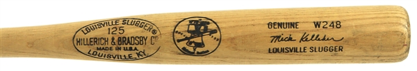 1976 Mick Kelleher Chicago Cubs H&B Louisville Slugger Professional Model Game Used Bat (MEARS A8.5)