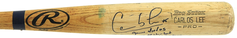 2005 Carlos Lee Milwaukee Brewers Signed & Inscribed Rawlings Adirondack Professional Model All Star Game Bat (MEARS LOA/JSA)