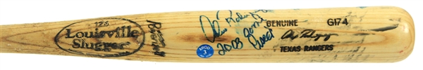 2003 Alex Rodriguez Texas Rangers Signed & Inscribed Louisville Slugger Professional Model Game Used Bat (MEARS A7/JSA) AL MVP Season