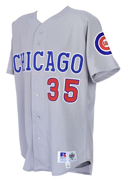 1992-93 Chuck McElroy Chicago Cubs Game Worn Road Jersey (MEARS LOA)