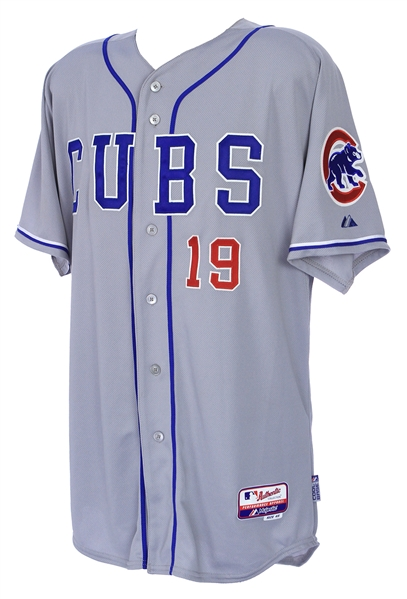 2014 (March 31) Nate Schierholtz Chicago Cubs Opening Day Game Worn Road Jersey (MEARS LOA/MLB Hologram)