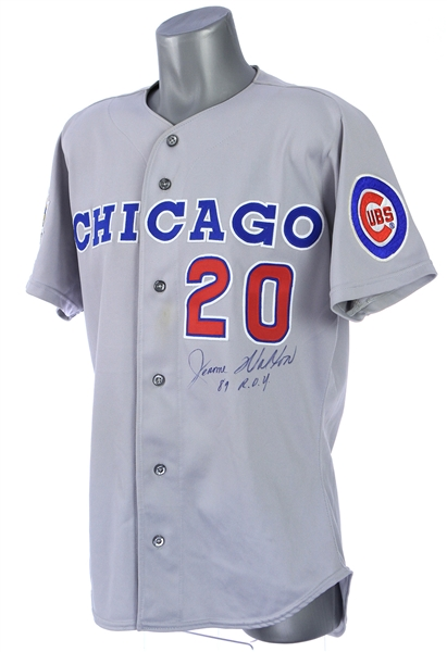 1990 Jerome Walton Chicago Cubs Signed & Inscribed Road Jersey (MEARS LOA/JSA)