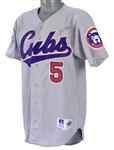 1995 Jim Riggleman Chicago Cubs Signed All Star Game Worn Road Jersey (MEARS LOA/JSA/MLBPA Letter)