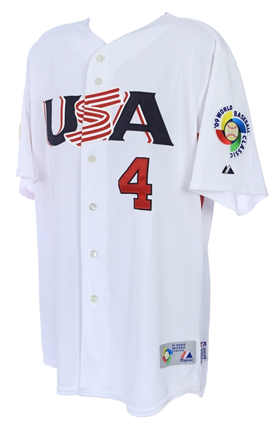 2009 David Wright New York Mets Signed Team USA World Baseball Classic Jersey (MEARS LOA/JSA)