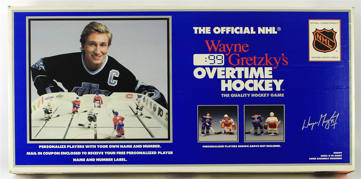 1990 Wayne Gretzky Los Angeles Kings Overtime Hockey Table Top Game In Original Box