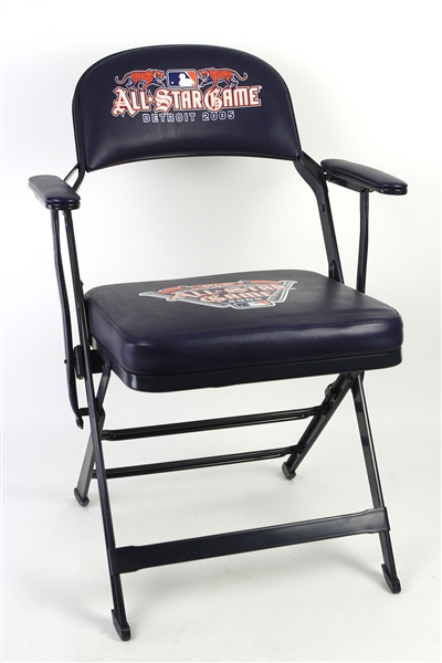 2005 MLB All Star Game Comerica Park Padded Folding Clubhouse Chair (MEARS LOA)