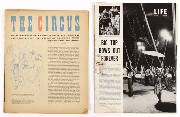 1950s Life & Fortune Magazine Circus Articles - Lot of 2