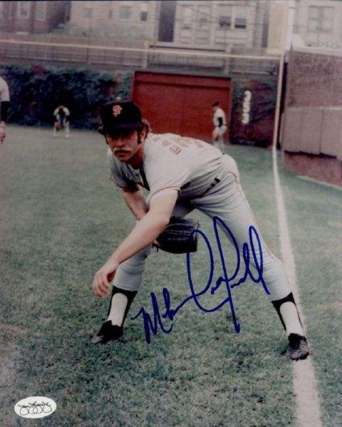 1974-76 San Francisco Giants Mike Caldwell Autographed 8x10 Color Photo (JSA)