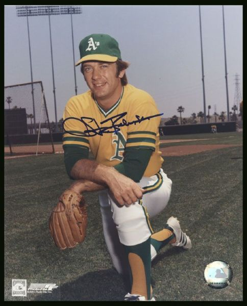 1975-77 Stan Bahnsen Oakland Athletics Autographed 8x10 color Photo (JSA)