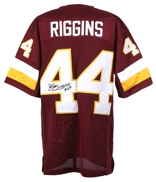 "1976-1985 John Riggins Washington Redskins Signed Custom Jersey W/ ""SB XVII MVP"" Inscription (JSA)"