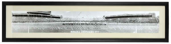 "1977 Nebraska Cornhuskers 13""x 54"" Framed Team Photo"