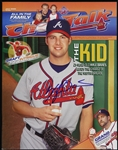2005 Kyle Davis Atlanta Braves Signed Choptalk Magazine (JSA)