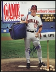 1988 Doug Jones Cleveland Indians Signed Indians Game Face Magazine (JSA)