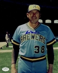 1976-82 Cal McLish Milwaukee Brewers Signed 8x10 Color Photo *JSA*