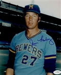 1972 Jim Lonborg Milwaukee Brewers Autographed 8x10 Color Photo *JSA*