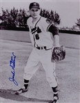 1953-56 Jack Dittmer Milwaukee Braves Autographed 8x10 B/W Photo *JSA*