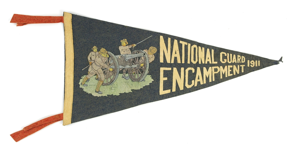 "1911 US National Guard Encampment 22"" Pennant"