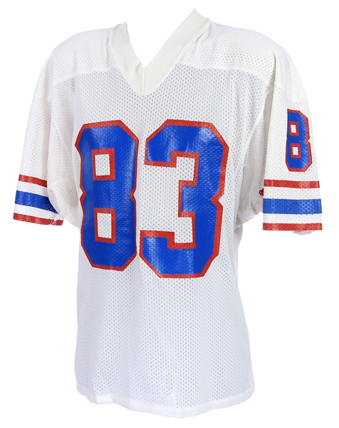 1985-86 Tim Smith Houston Oilers Game Worn Road Jersey (MEARS LOA)