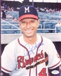"1953-59 Andy Pafko Milwaukee Braves Signed 8"" x 10"" Photo (*JSA*)"