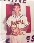 "1953-60 Billy Bruton Milwaukee Braves Signed 8"" x 10"" Photo (*JSA*)"