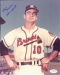 "1953-62 Bob Buhl Milwaukee Brewers Signed 8"" x 10"" Photo (*JSA*)"