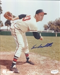 "1953-63 Lou Burdette Milwaukee Braves Signed 8"" x 10"" Photo (*JSA*)"