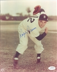 "1944-53 Ralph Branca Brooklyn Dodgers Signed 8"" x 10"" Photo (*JSA*)"