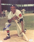 "1950-52 Sam Jethroe Boston Braves Signed 8"" x 10"" Photo (*JSA*)"