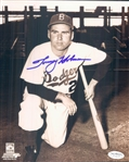 "1952 Tommy Holmes Brooklyn Dodgers Signed 8"" x 10"" Photo (*JSA*)"